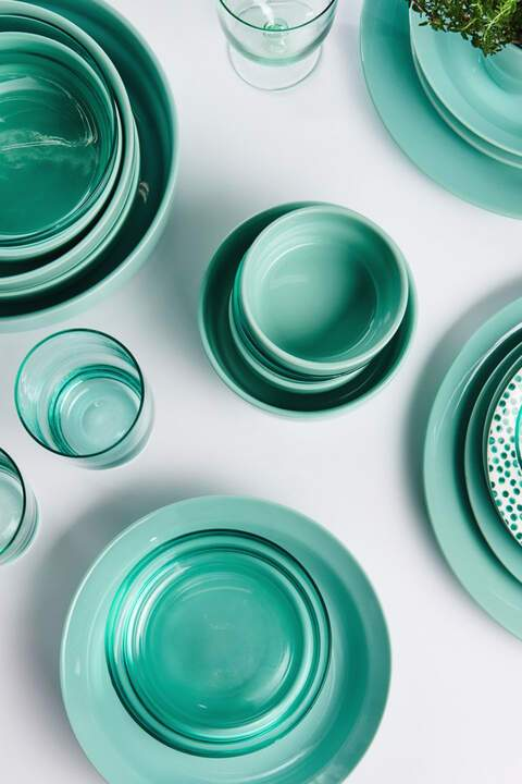 tableware, hema, aqua, styling, content, creative, tabletop