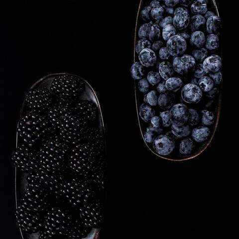 food, photography, styling, berries, black, contrast, concept, creative